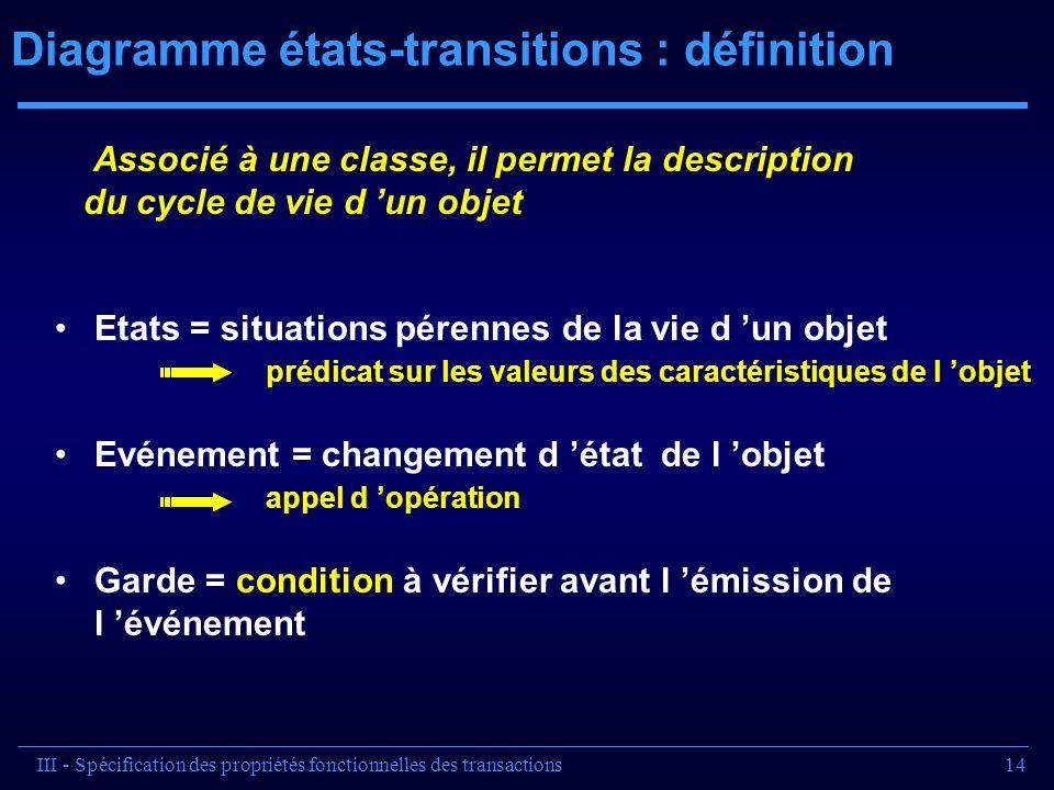Diagramme états-transitions : définition