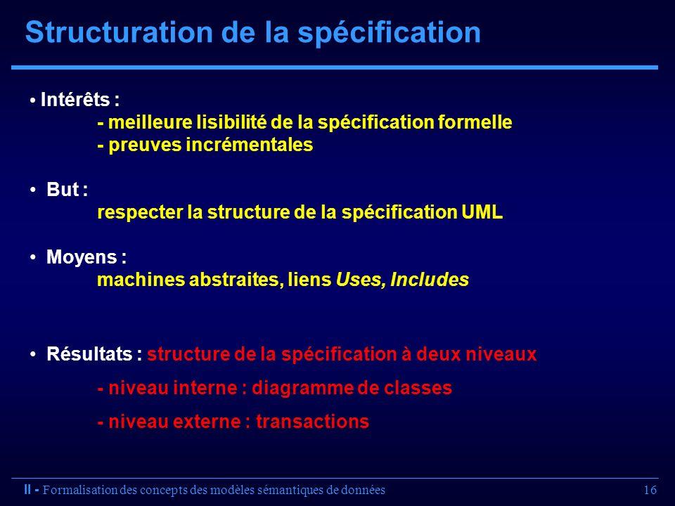 Structuration de la spécification