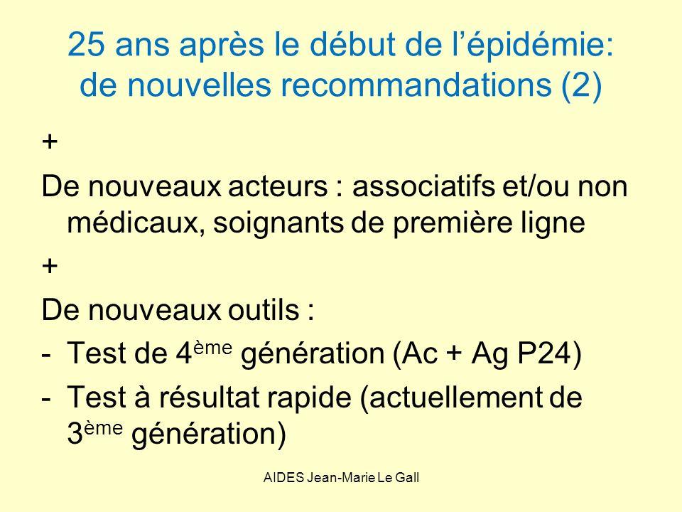 25 ans après le début de l'épidémie: de nouvelles recommandations (2)