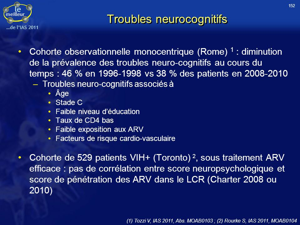 Troubles neurocognitifs