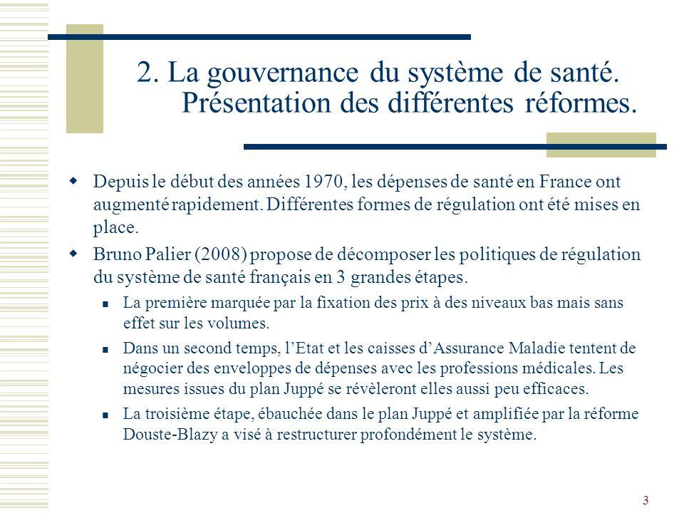 2. La gouvernance du système de santé