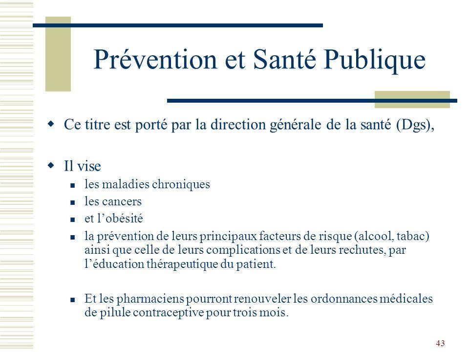Prévention et Santé Publique