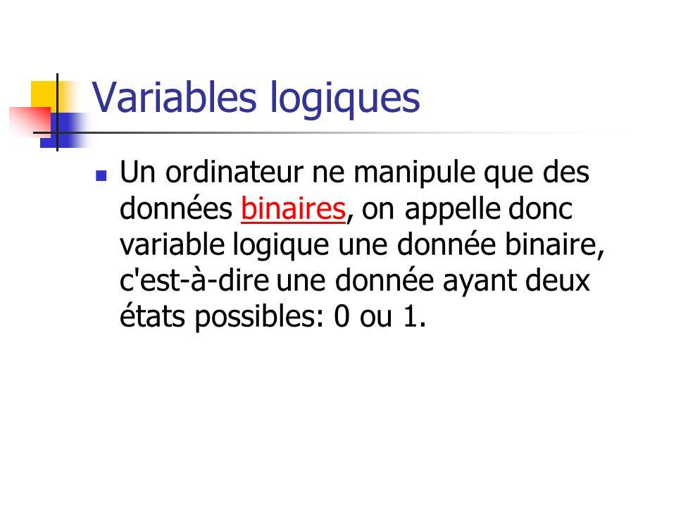 Variables logiques