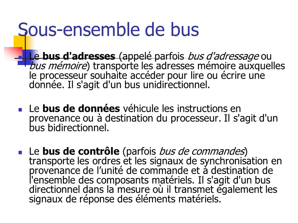 Sous-ensemble de bus