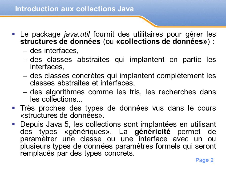 Introduction aux collections Java