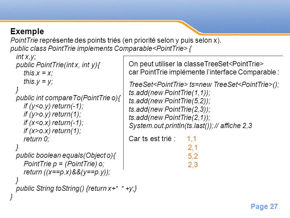 Exemple Car ts est trié : 1,1 2,1 5,2 2,3