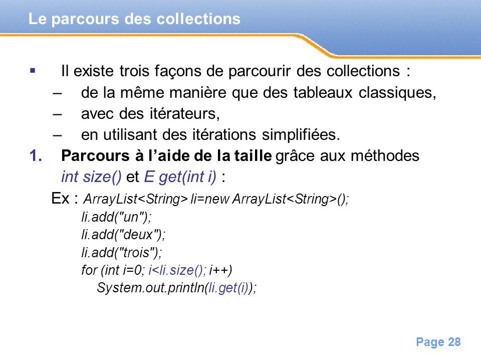 Le parcours des collections