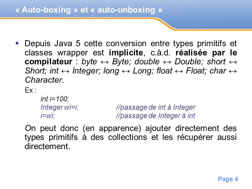 « Auto-boxing » et « auto-unboxing »