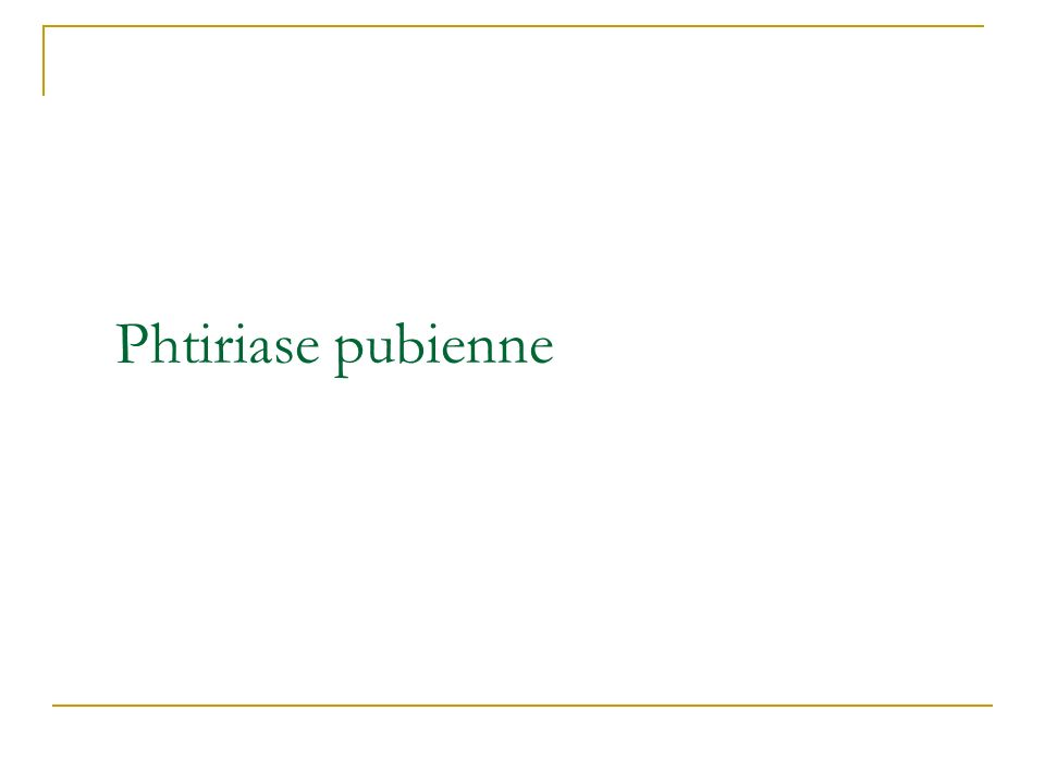 Phtiriase pubienne