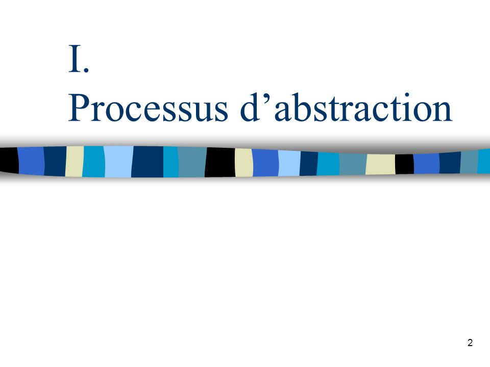 I. Processus d'abstraction