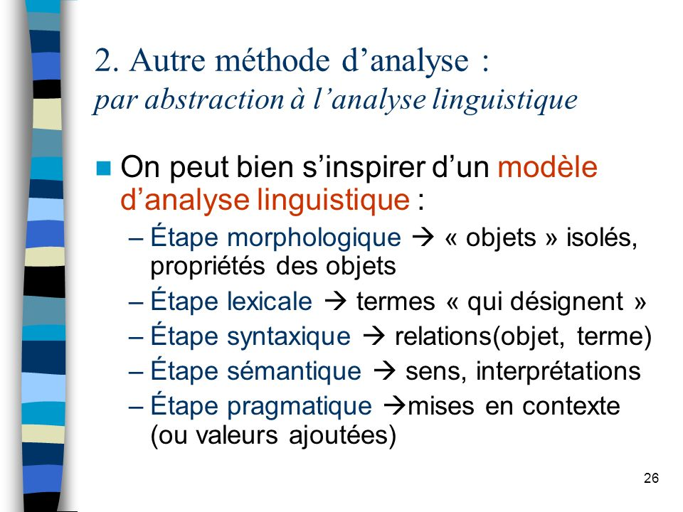 2. Autre méthode d'analyse : par abstraction à l'analyse linguistique