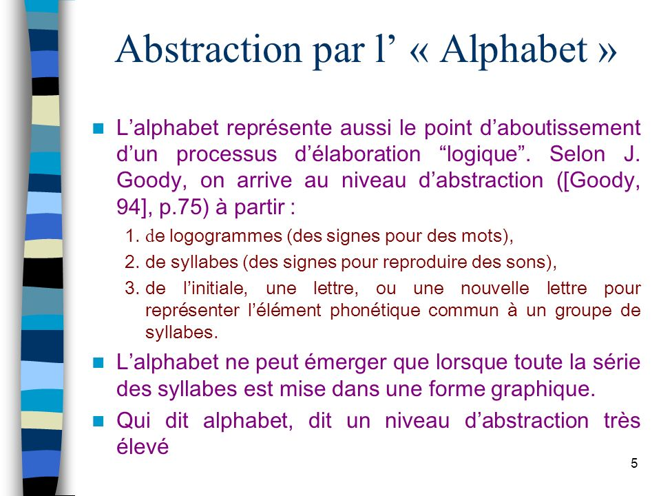 Abstraction par l' « Alphabet »