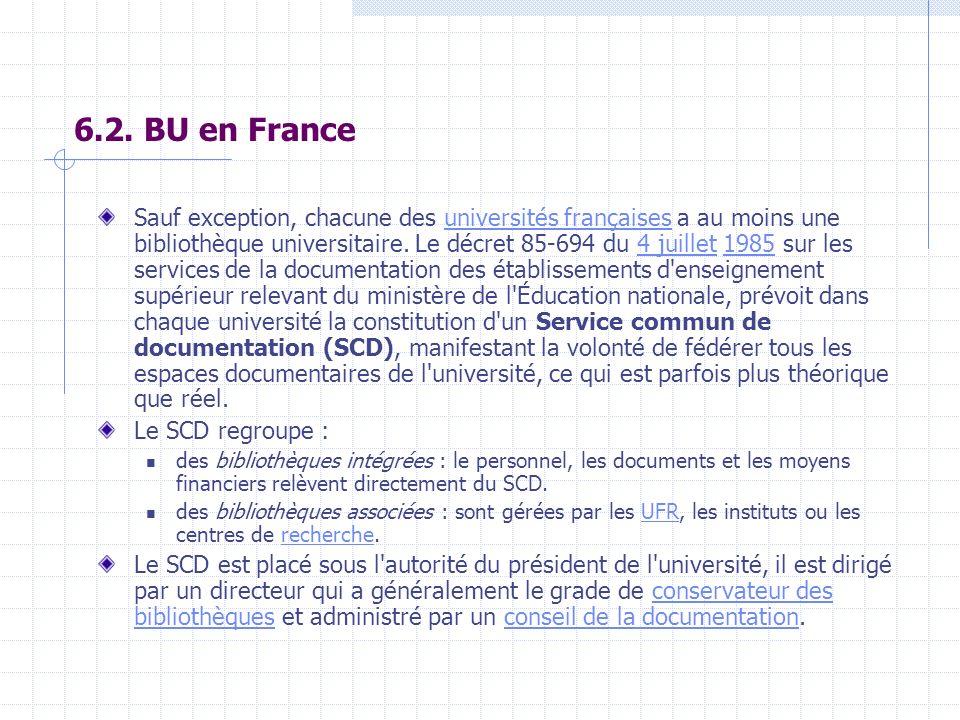 6.2. BU en France