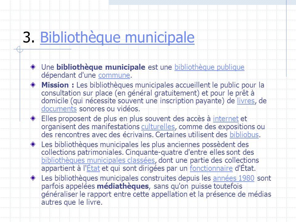 3. Bibliothèque municipale