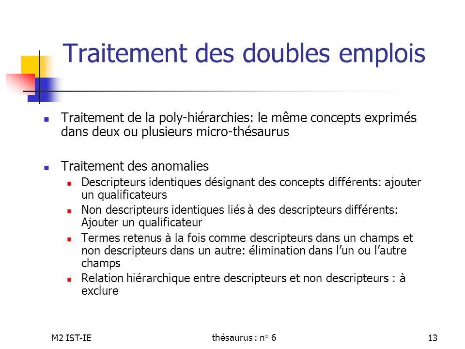 Traitement des doubles emplois