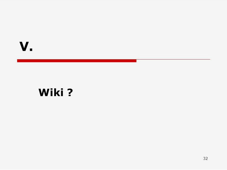 V. Wiki