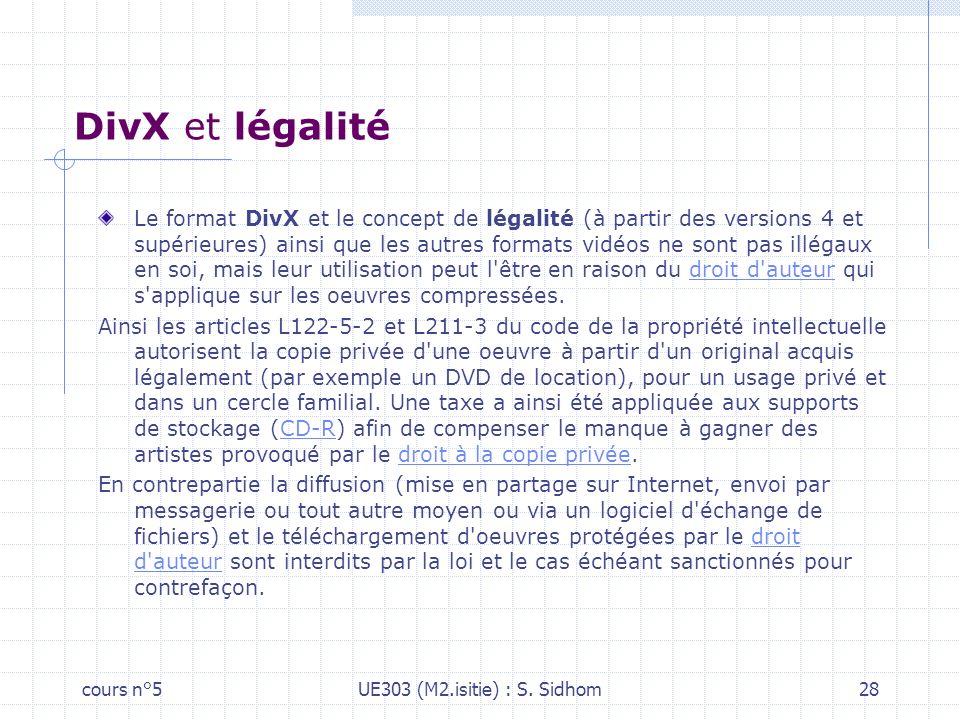 DivX et légalité