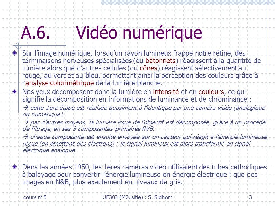 A.6. Vidéo numérique