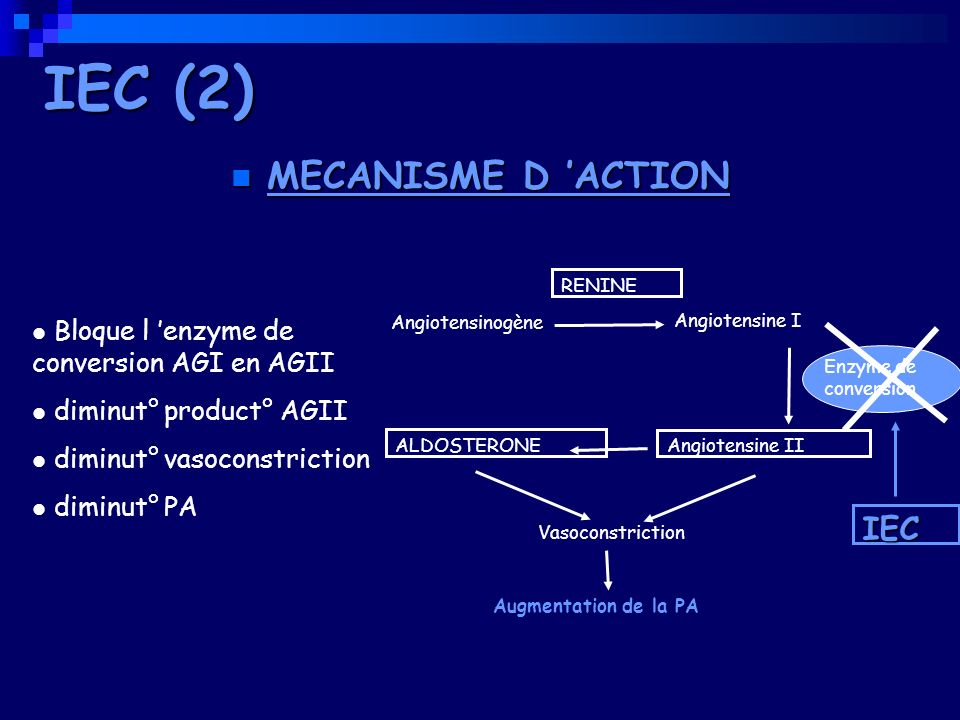 IEC (2) MECANISME D 'ACTION IEC