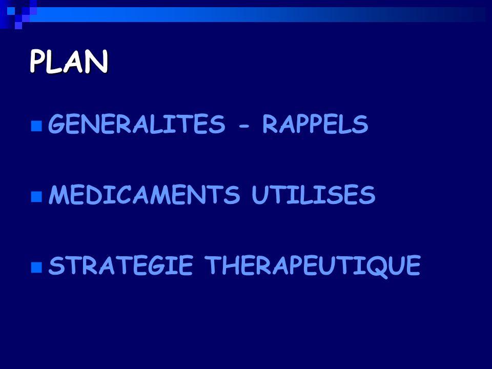PLAN GENERALITES - RAPPELS MEDICAMENTS UTILISES