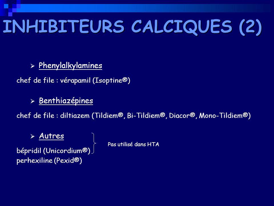 INHIBITEURS CALCIQUES (2)