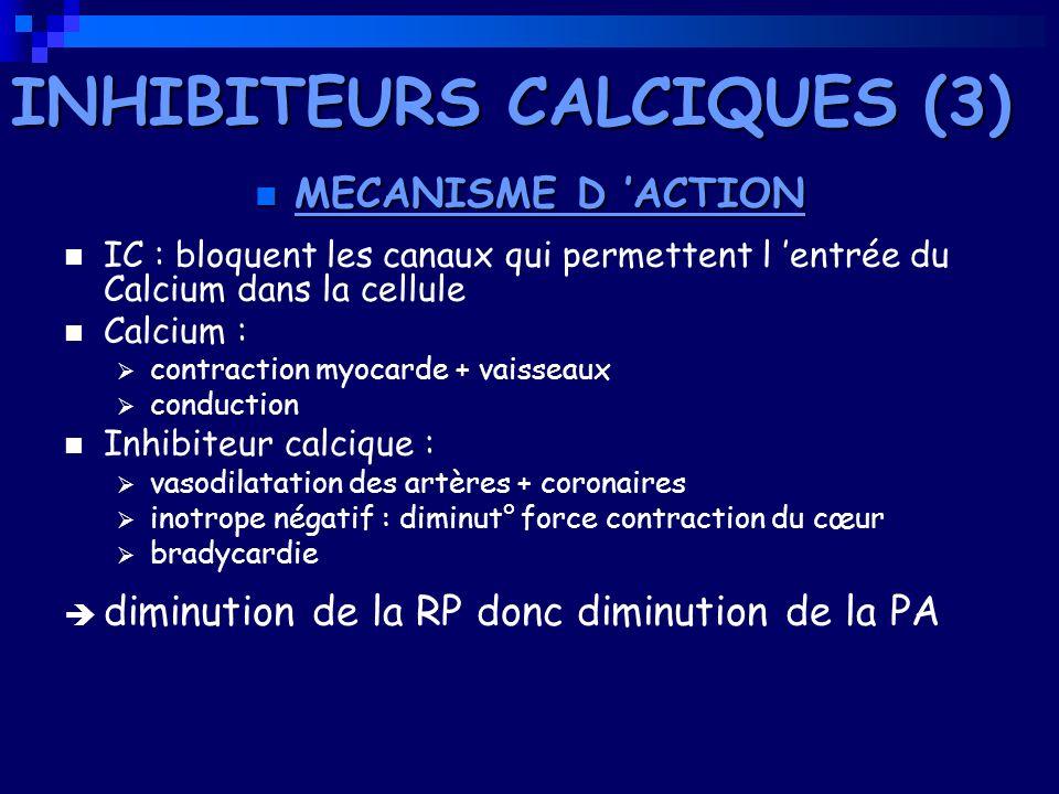INHIBITEURS CALCIQUES (3)