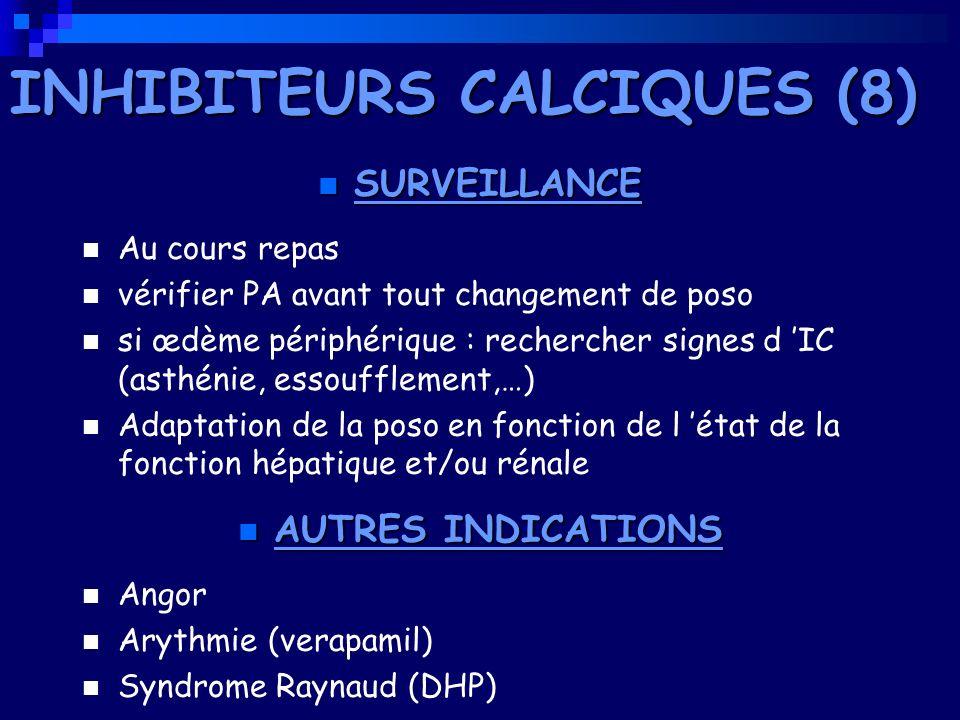 INHIBITEURS CALCIQUES (8)
