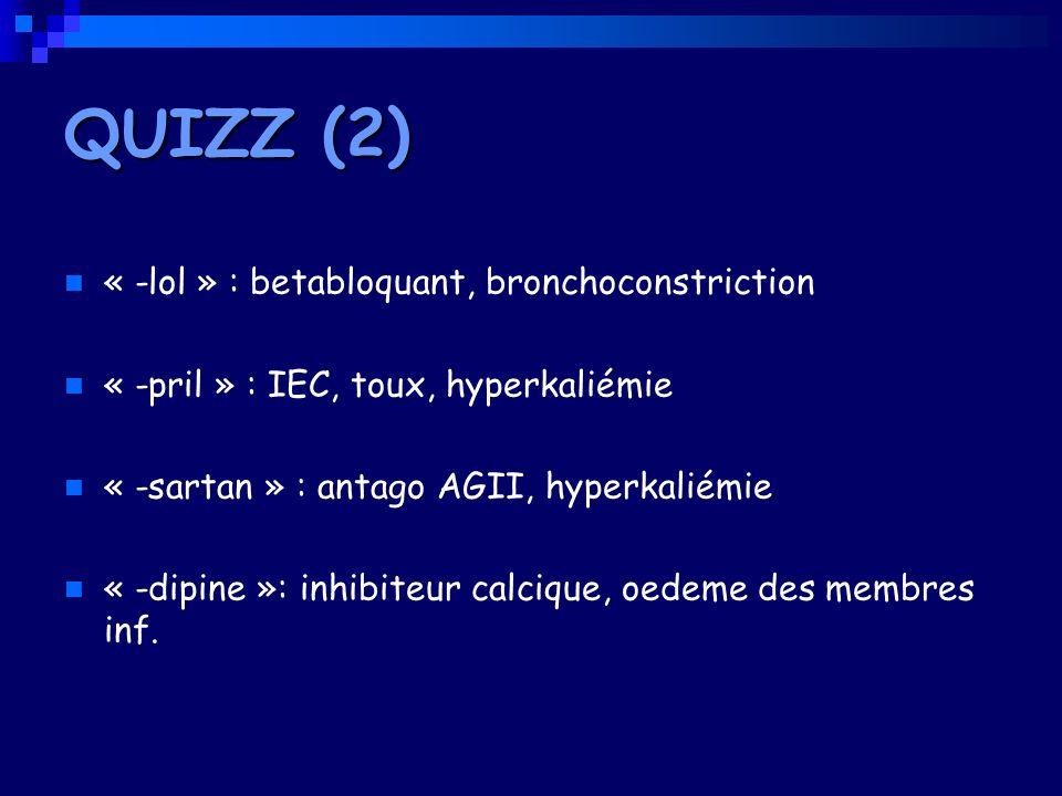 QUIZZ (2) « -lol » : betabloquant, bronchoconstriction