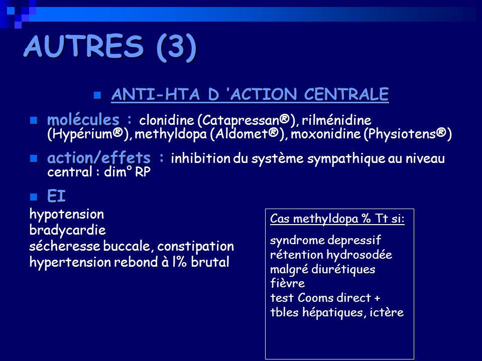 ANTI-HTA D 'ACTION CENTRALE