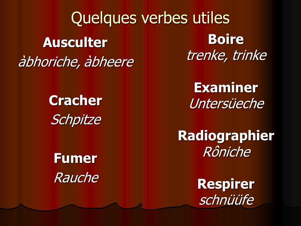 Quelques verbes utiles