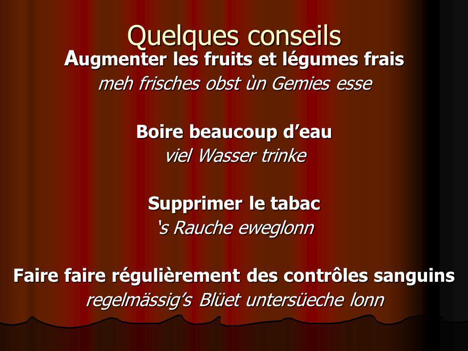 Quelques conseils Augmenter les fruits et légumes frais