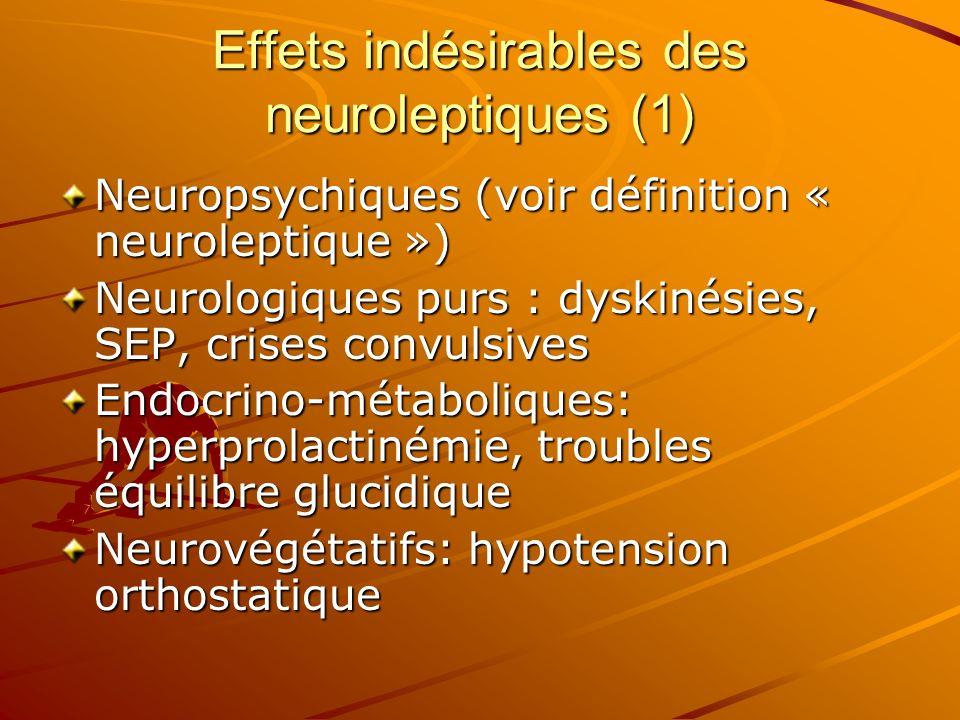 Effets indésirables des neuroleptiques (1)