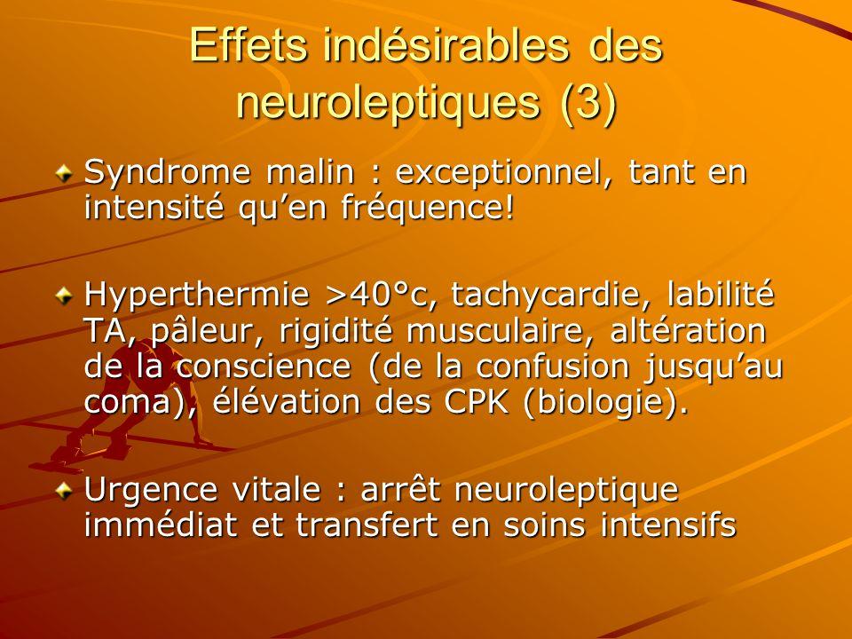 Effets indésirables des neuroleptiques (3)