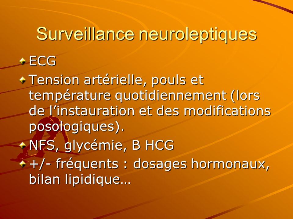Surveillance neuroleptiques