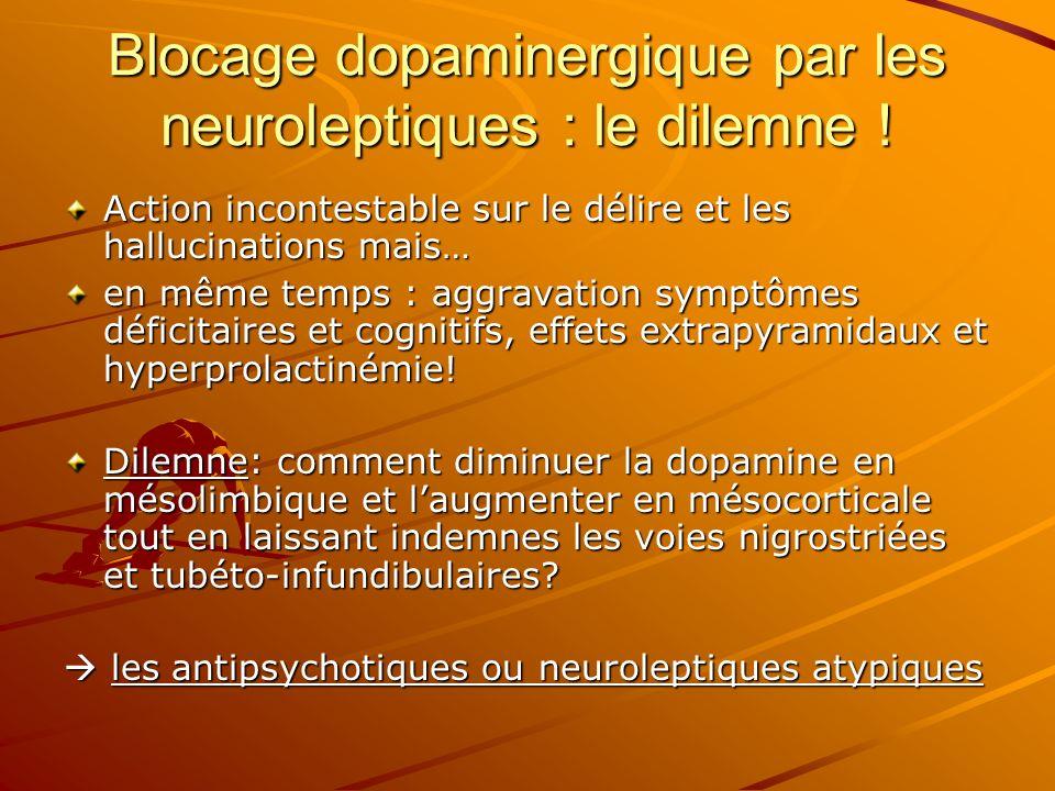 Blocage dopaminergique par les neuroleptiques : le dilemne !