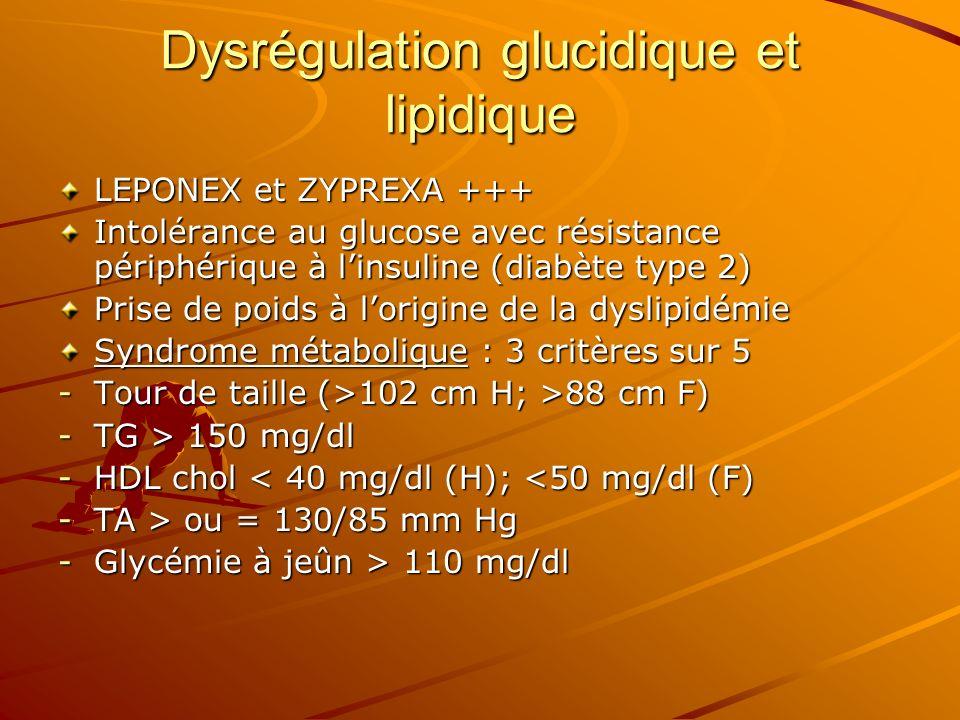 Dysrégulation glucidique et lipidique