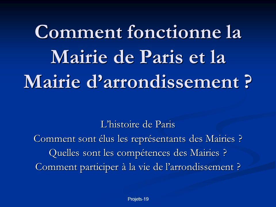 Comment fonctionne la Mairie de Paris et la Mairie d'arrondissement
