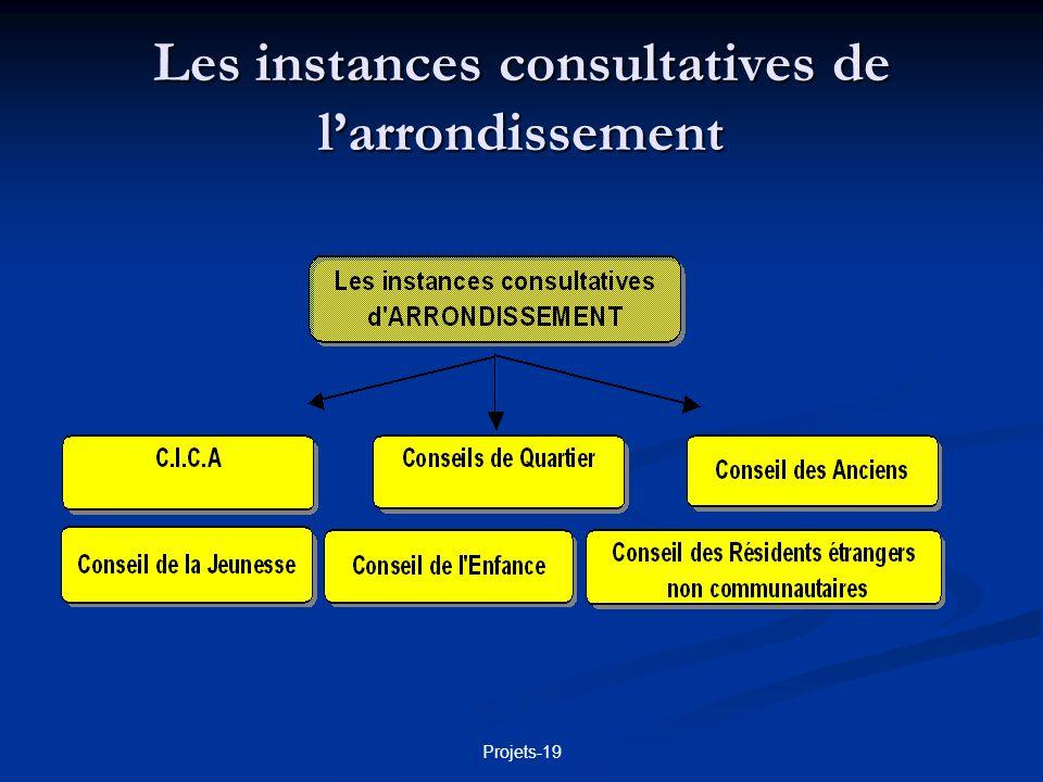 Les instances consultatives de l'arrondissement