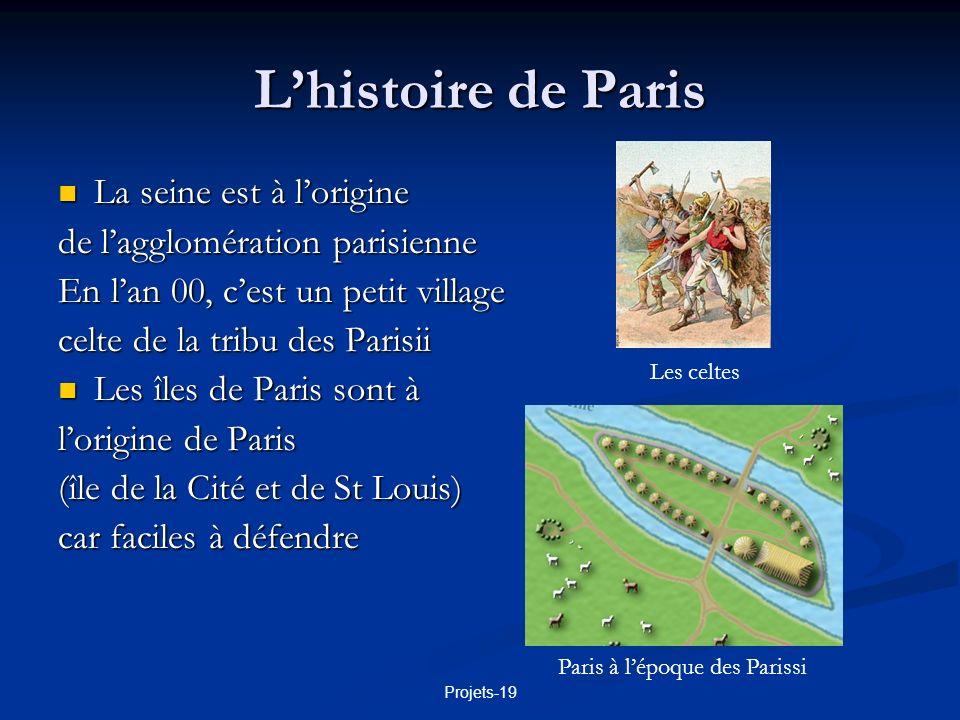 L'histoire de Paris La seine est à l'origine