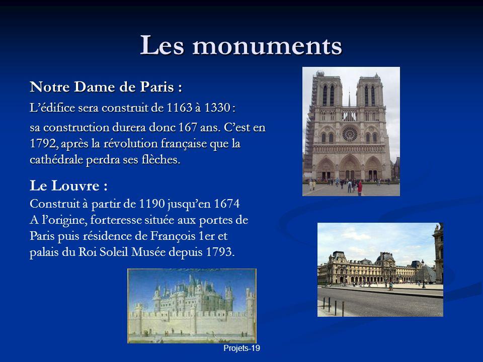 Les monuments Notre Dame de Paris : Le Louvre :