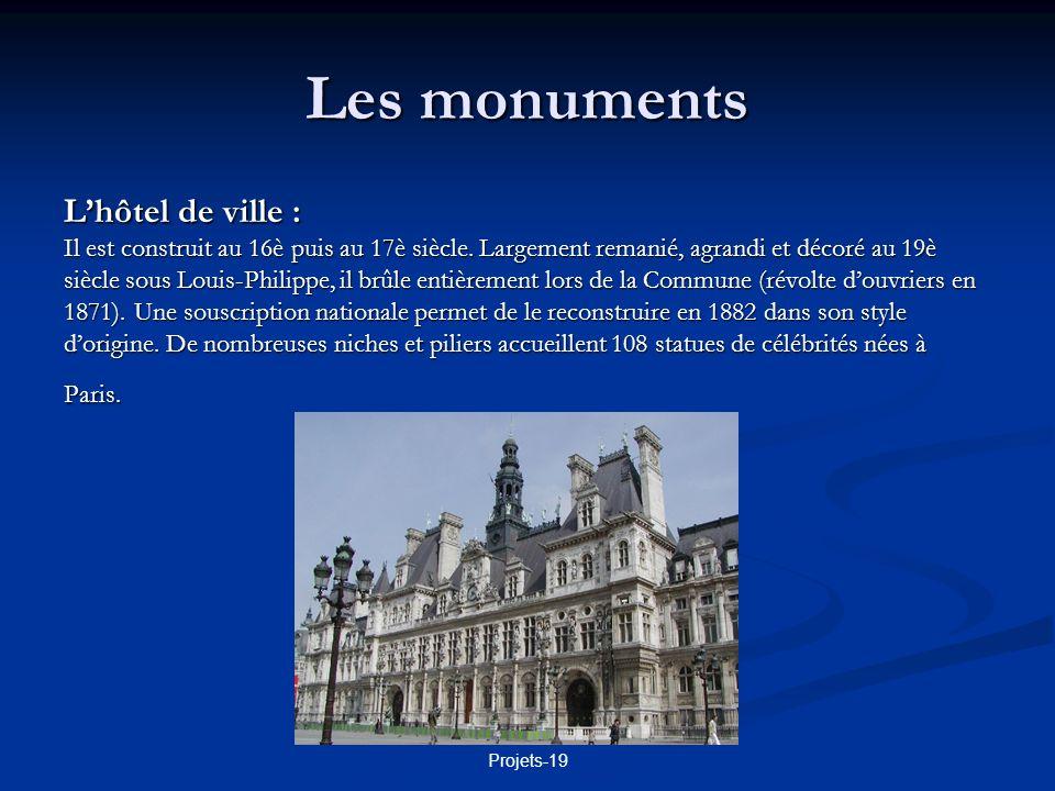 Les monuments L'hôtel de ville :