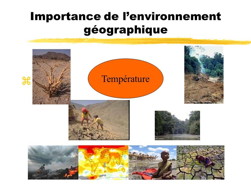 Importance de l'environnement géographique