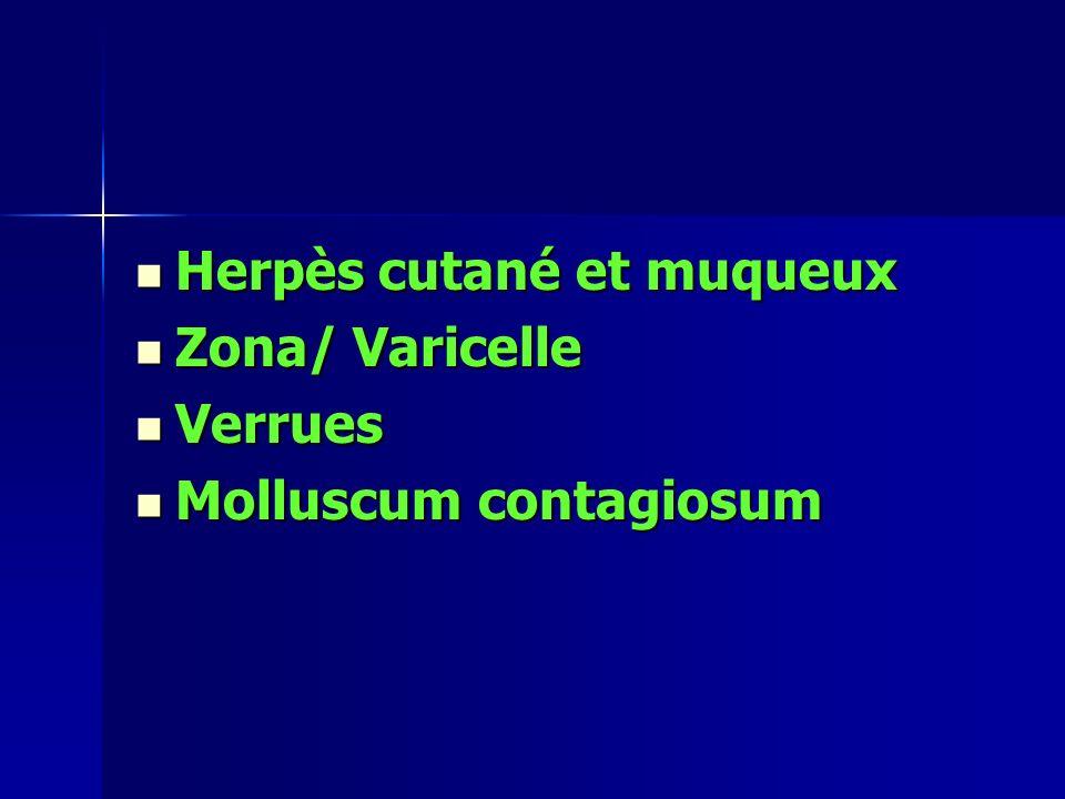 Herpès cutané et muqueux