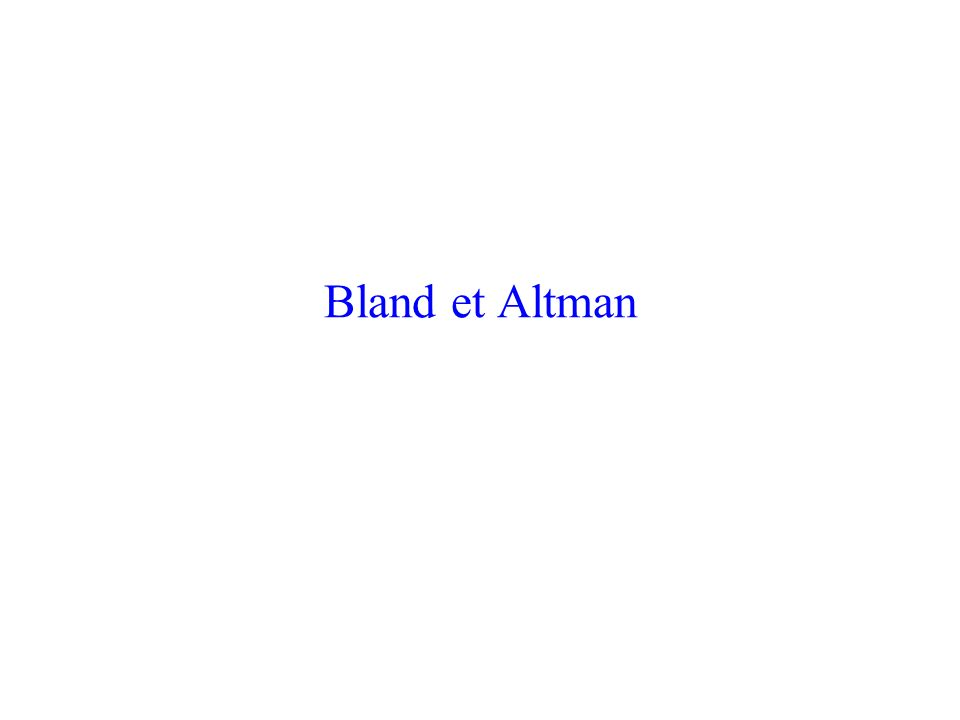 Bland et Altman