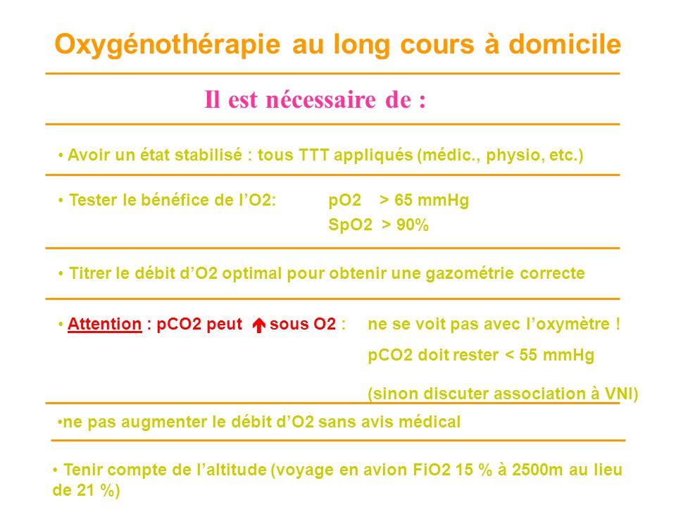 Oxygénothérapie au long cours à domicile