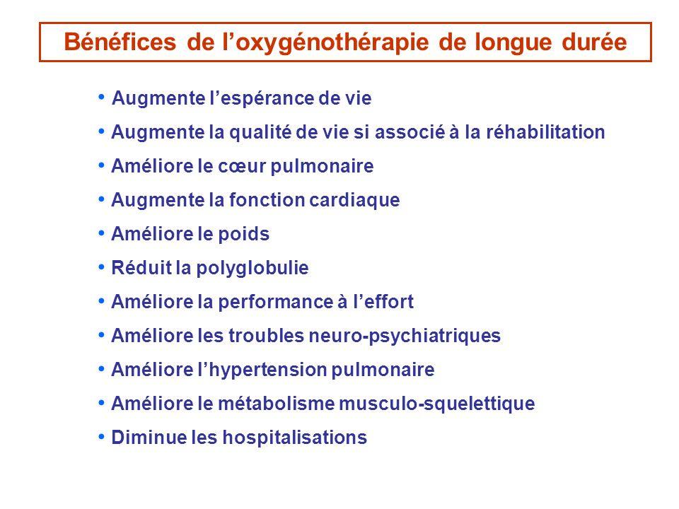 Bénéfices de l'oxygénothérapie de longue durée