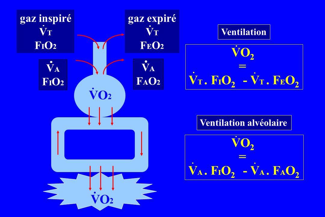 VO2 = VT . FIO2 - VT . FEO2 VO2 = VA . FIO2 - VA . FAO2