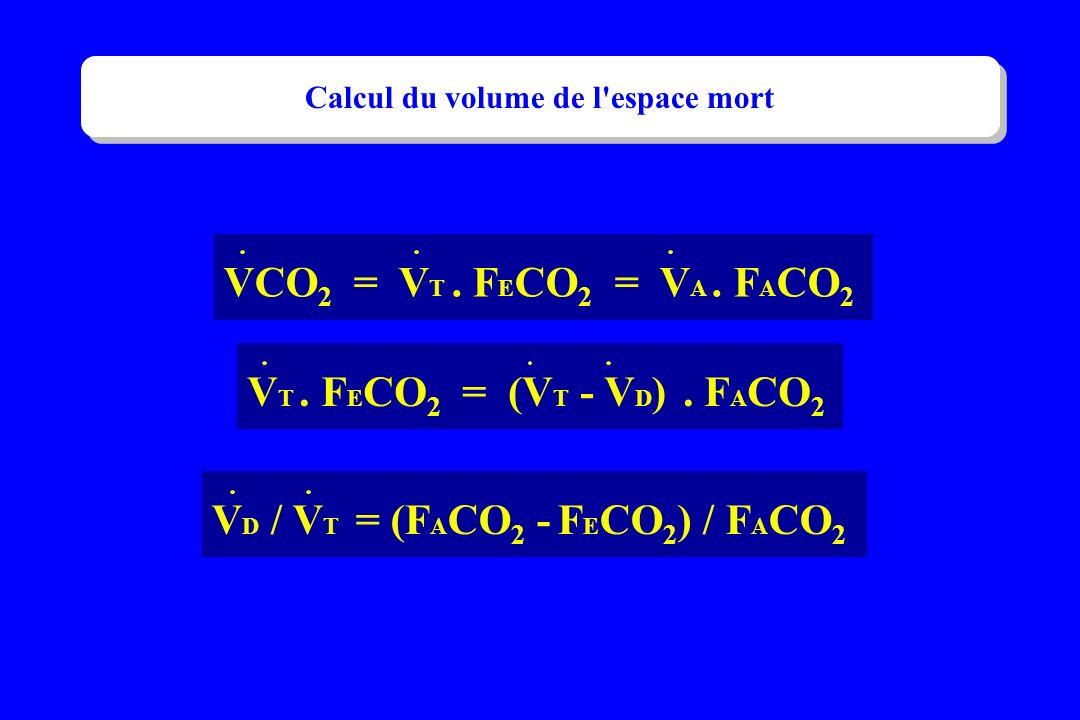 Calcul du volume de l espace mort