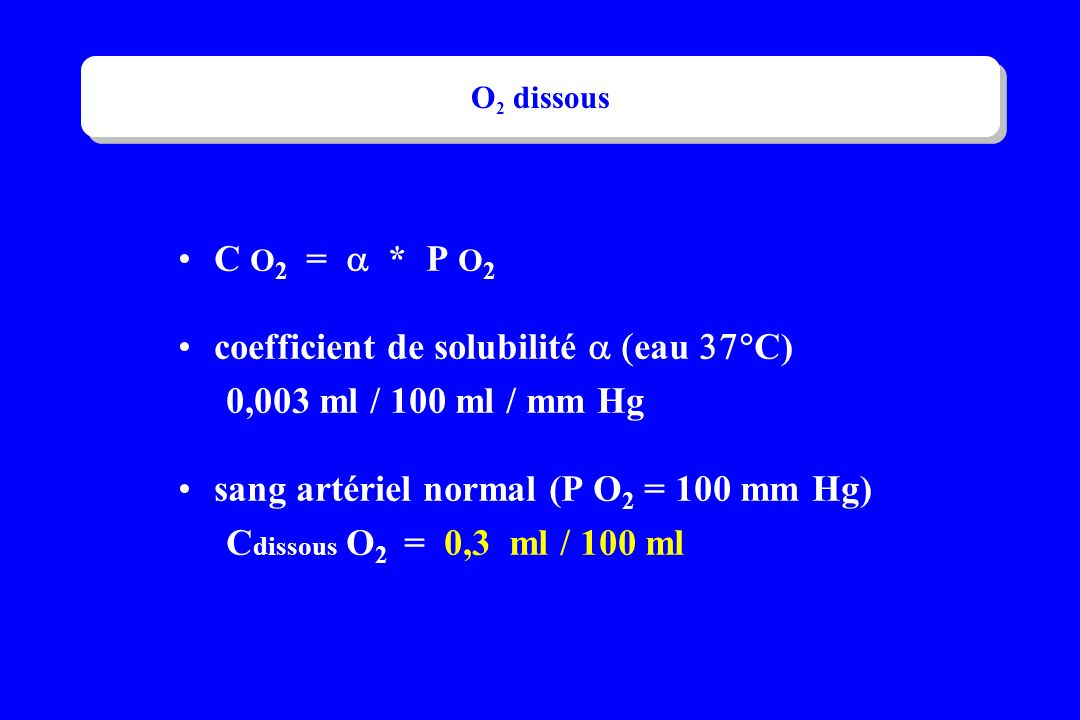 coefficient de solubilité  (eau 37°C) 0,003 ml / 100 ml / mm Hg