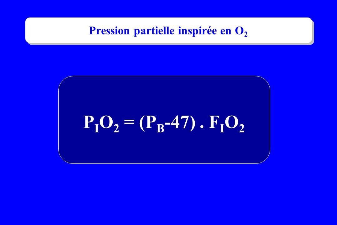 Pression partielle inspirée en O2